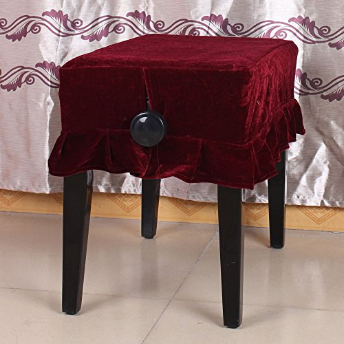 ammoon Piano Stool Chair Cover Pleuche Decorated with Macrame 55 * 35cm for Piano Single Chair Universal Beautiful