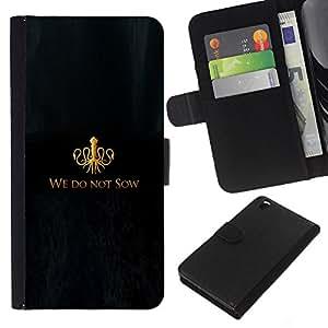 LECELL--Cuero de la tarjeta la carpeta del tirón Smartphone Slots Protección Holder For HTC DESIRE 816 -- No sembramos --