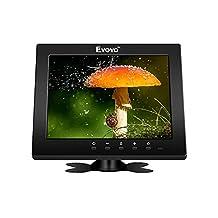Eyoyo Super 8 Inch IPS LCD Monitor 1204x768 VGA BNC AV HDMI Ypbpr Input Type-C Port High Resolution For Home Security Dvr PC CCTV System (USB Port)