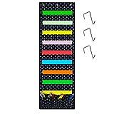 Godery Wall Pocket Chart Organizer, School Pocket Chart 9 Large Pockets 3 Small Pockets & 3 Hangers, Multi-Purpose Wall Hanging File Organizer Folder 14'' X 43'' Wall Or Over Door Mount