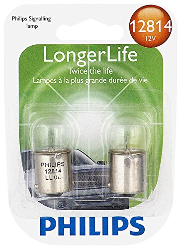 Philips 12814 LongerLife Miniature Bulb, 2 (Fox Highball Glass)