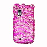 Eagle Cell PDSAMI500F302 RingBling Brilliant Diamond Case for Samsung Fascinate/Mesmerize (Galaxy S) i500 – Retail Packaging – Hot Pink Zebra, Best Gadgets