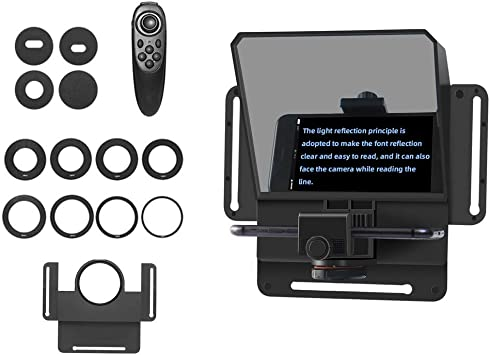 Teleprompter Portable Adjustable for Ipad//Tablet//Smartphone//iPhone,Outdoor Video Shooting People Interview Web Celebrity Live,Wireless Control