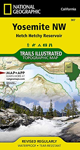Yosemite NW: Hetch Hetchy Reservoir (National Geographic Trails Illustrated Map) ()