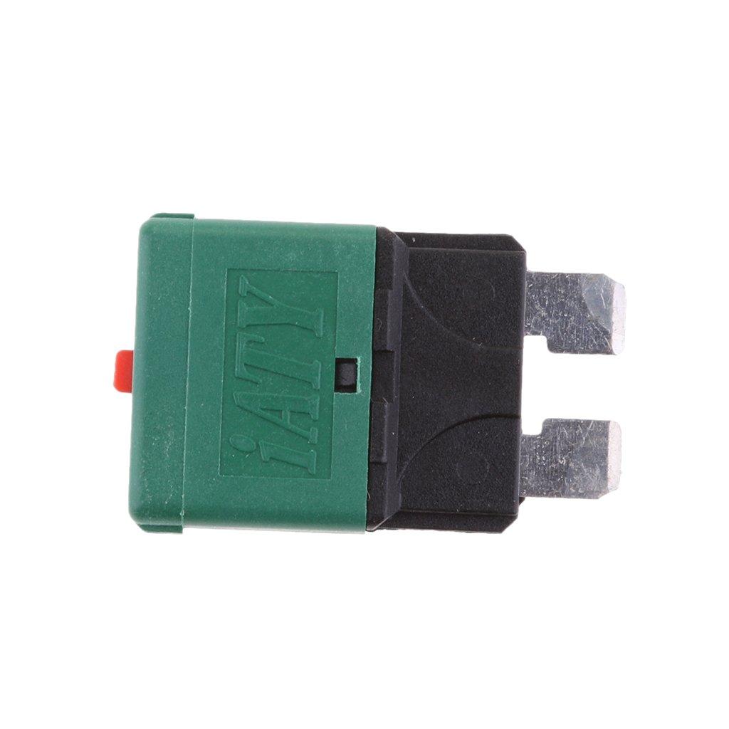 perfk 7er-Set Mini Flachsicherung Auto KFZ Sicherung Set inkl 5A 7.5A 10A 15A 20A 25A 30A