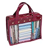 Hobby Gift MRFQ/22 Dark Red Polka Dot Fat Quarter Storage Bag 31X25x11cm