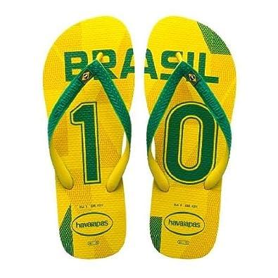 f60911720371 Havaianas Team Brasil Yellow Green Mens New Summer Beach Flip Flops-41   Amazon.co.uk  Shoes   Bags
