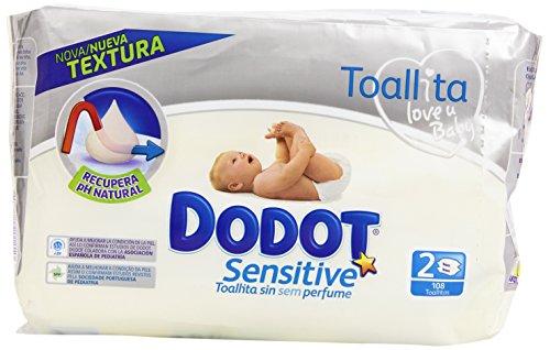 Dodot Sensitive – Toallitas para bebés, 108 unidades