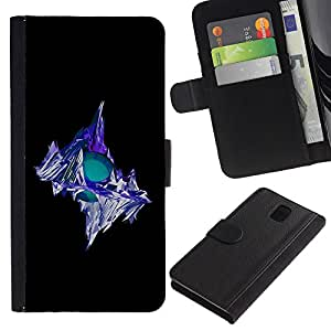 Planetar® Colorful Pattern Flip Wallet Leather Holster Protective Skin Case Cover For SAMSUNG Galaxy Note 3 III / N9000 / N9005 ( Iceberg )