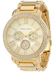 Vince Camuto Womens VC/5000CHGB Swarovski Crystal Accented Gold-Tone Multi-Function Bracelet Watch
