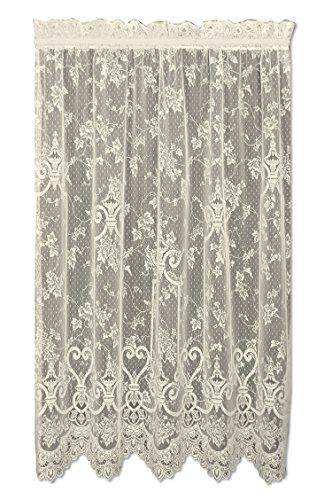 English Ivy 60x84 Curtain Panel, Ecru (Ivy Lace Valance)