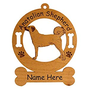 1280 Anatolian Shepherd Standing #2 Dog Ornament Personalized with Your Dog's Name 3