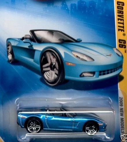 Hot Wheels 2009 Corvette C6 Convertible Blue 03/42, 2009 New Models, 1:64 Scale. ()