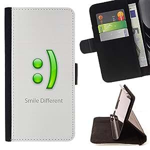 - Smile Different/ Personalizada del estilo del dise???¡¯???¡Ào de la PU Caso de encargo del cuero del tir???¡¯????n del s - Cao - For HTC One M9