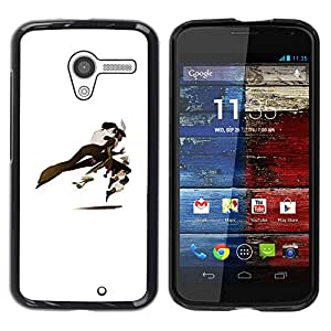 Shell-Star Arte & diseño plástico duro Fundas Cover Cubre Hard Case Cover para MOTO X / XT1058 / XT1053 / XT1052 / XT1056 / XT1060 / XT1055 ( White Comic Cartoon Character Hero )