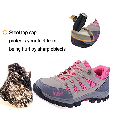 Work Safety Construction Footwear Toe Industrial With Pink Puncture Shoes Proof JACKSHIBO Shoes and Steel q5dBq1