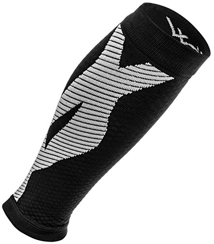 Calf Compression Sleeves (1-Pair): Premium Leg Compression Socks For Men & Women. Guaranteed Performance - Best Support Brace For Running, Shin Splints, Cross Training, Pain Relief, & More!