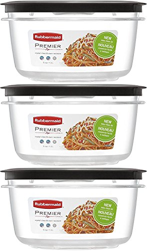 Rubbermaid Premier Food Storage Container, 5-Cup (Pack of 3) (Food Rubbermaid Premier Storage)