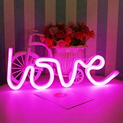 Led Neon Cactus Sign Love Sign Art Decorative Lights Wall Decor Home ...