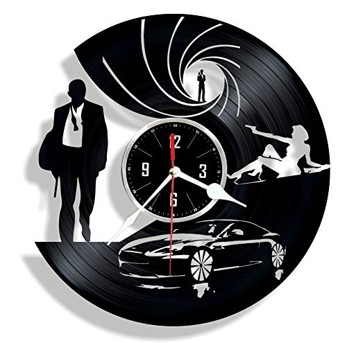 Special Agent handmade vinyl wall clock - great gift for