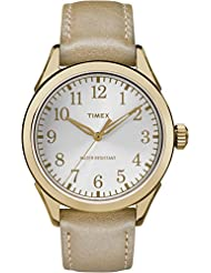 Timex Women's TW2P99300GP Style Elevated Gold Dial Wrist Watch