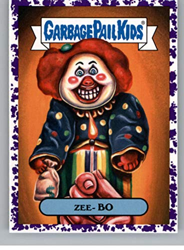 2019 Topps Garbage Pail Kids We Hate the '90s TV Stickers B Jelly Purple #16 ZEE- BO Peelable Collectible Trading Sticker Card (Are You Afraid of the