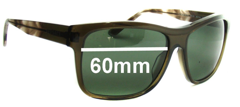 0f811ccd3e Amazon.com  SFx Replacement Sunglass Lenses fits Versace MOD 4179 60mm Wide  (Polycarbonate Clear Hardcoat Pair-Regular)  Clothing