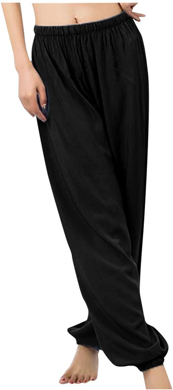 Amazon.com: Dainzuy Womens Flowy Yoga Harem Pants Long ...