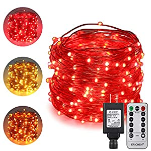 ErChen Dual-Color LED String Lights, 66 FT 200 LEDs Plug in Copper Wire Color Changing 8 Modes Dimmable Fairy Lights…