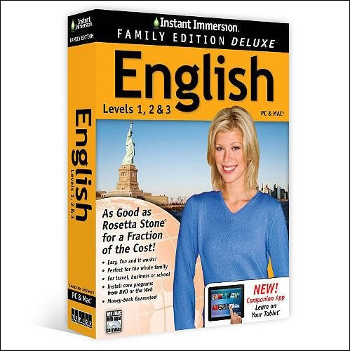 Instant Immersion English: Levels 1, 2 & 3 Family Edition Deluxe