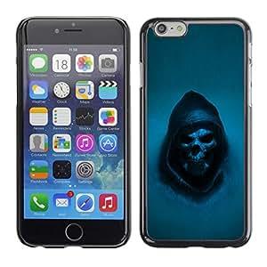 TopCaseStore / la caja del caucho duro de la cubierta de protección de la piel - Grim Reaper Skull Goth Death - Apple iPhone 6 Plus 5.5