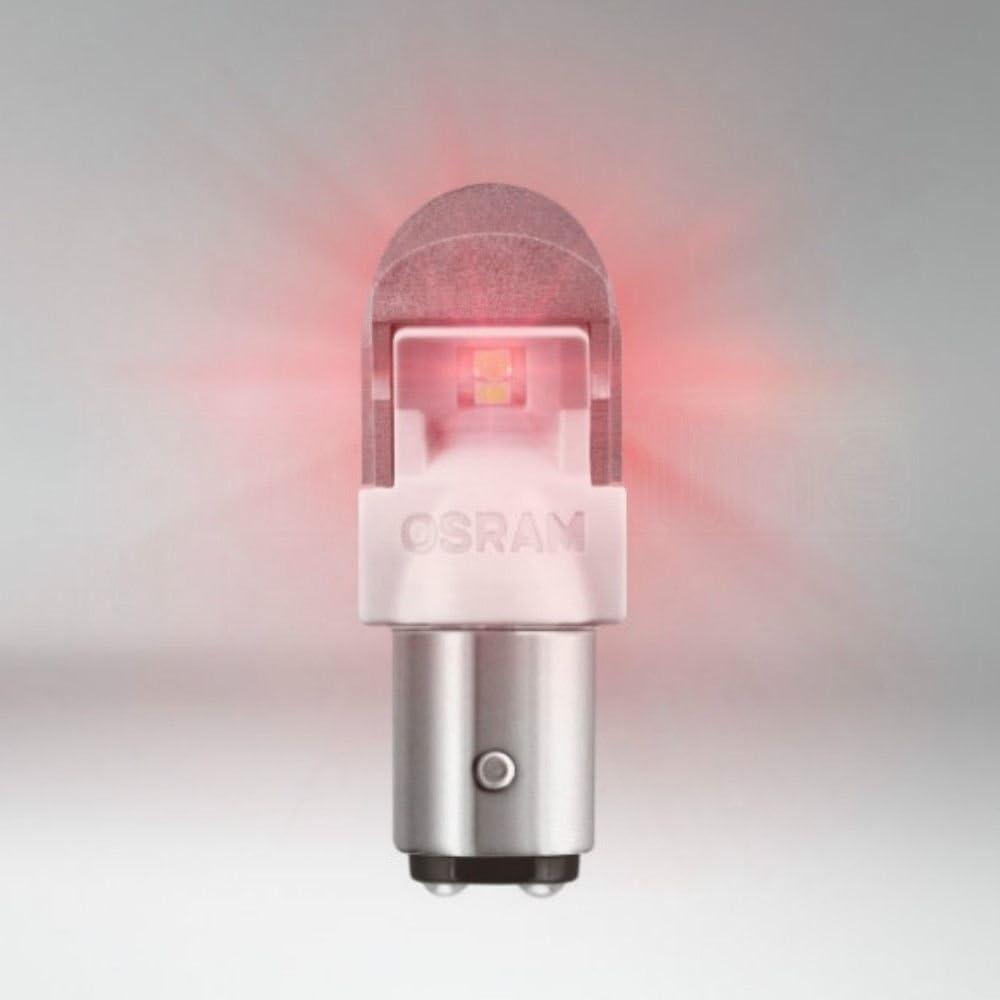 OSRAM P21//5W LED RED PREMIUM 12V 1557R-02B BAY15d LED 2bulbs