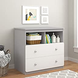 Cosco Products Willow Lake Changing Table, Light Slate Gray/White Stipple