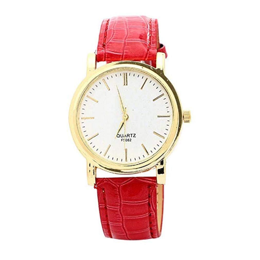 Scpink Relojes de Cuarzo para Mujer Liquidación Relojes de Pulsera para Mujer Relojes analógicos Relojes de Cuero para Mujeres (Marrón): Amazon.es: Relojes