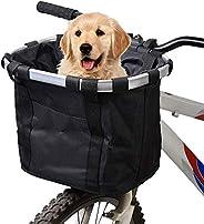docooler Bike Basket,Folding Small Pet Cat Dog Carrier Front Removable Bicycle Handlebar Basket Quick Release