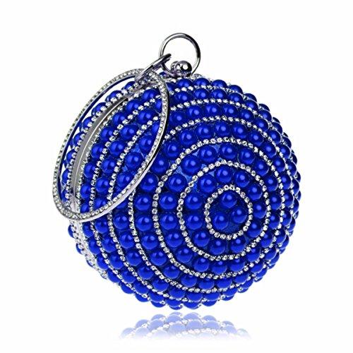 Mode Blue Pearl Les Sphérique Sacs Américaine De Sac Explosifs XJTNLB Et Européenne Sac De De À Soirée Blue Main ZwvTc