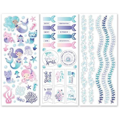 Memory Scrapbook Stickers - Mermaid Cove Stickers (3/pk) Scrapbook Designer Stickers by Creative Memories