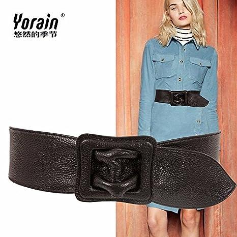 YISANLING-YD Decoración De Moda Cinturón Ancho Mujer Cinto De Cuero Puro  con Su Vestido  Amazon.es  Deportes y aire libre c0dfe358ac3f