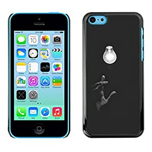 Exotic-Star ( Light Bulb Hand Art Meaning Deep ) Fundas Cover Cubre Hard Case Cover para Apple iPhone 5C