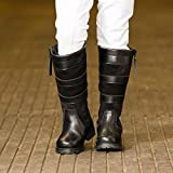 Childrens Pony Horse Riding Waterproof Country Outdoor Leather Walking Long Boots