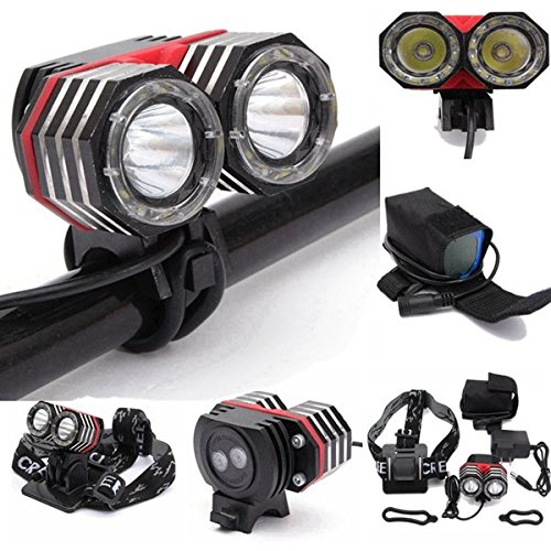 Bazaar 2Xt6 XM-L phare phare lampe torche vélo vélo de lumière