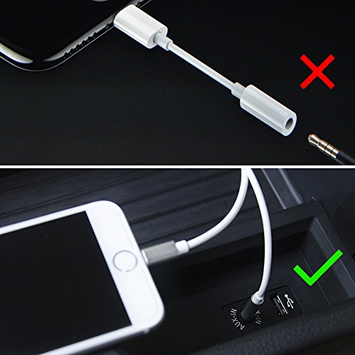 Lightning To 3 5mm Male: [Support IOS10.3] Lightning To 3.5mm 6.6Ft Male To Male