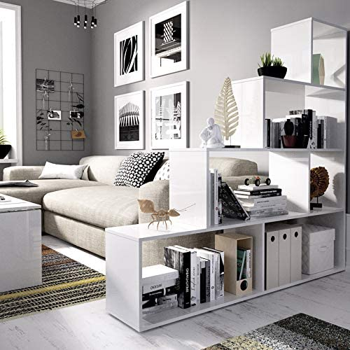 Estantería Blanca diseño Escalera, Funcional 6 Huecos para ...
