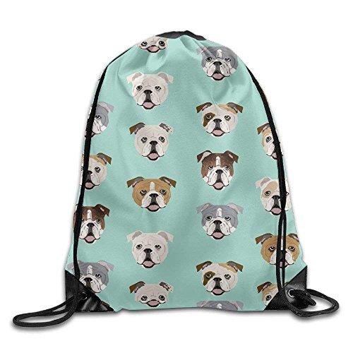 Backpack Print Fabric Bag Bulldog Design guolinadeou Dog Bags English Bag Mint Cute jpg Faces Face Drawstring Shoulder Rucksack Gym Sport wgvtxSq17v