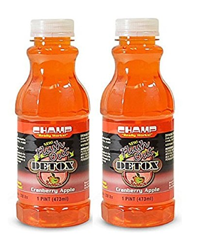 Champ Flush Out Detox Drink, Cranberry Apple, 1 Pint (2 Count)