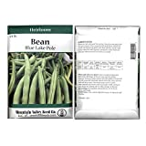 Blue Lake FM1K Pole Bean Seeds - 4 Oz Packet - Non-GMO, Heirloom - Green Bean Vegetable Garden Seeds - Phaseolus vulgaris