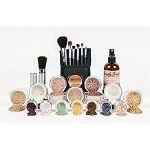 ULTIMATE KIT *Choose Your Shade* Full Size Mineral Makeup Brushes Set Bare Skin Sheer Powder Blush Eye Shadow Foundation Cover (Fair Shade 2)