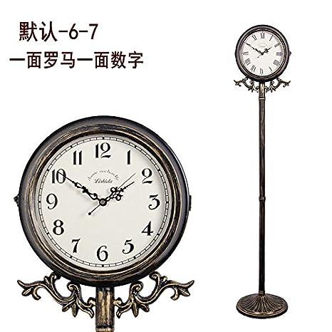 y-hui la sala de estar planta reloj, un reloj base reloj hierro Art