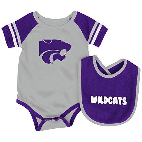 Kansas State University Baby Bodysuit and Bib Set Infant Jersey (0-3 M)