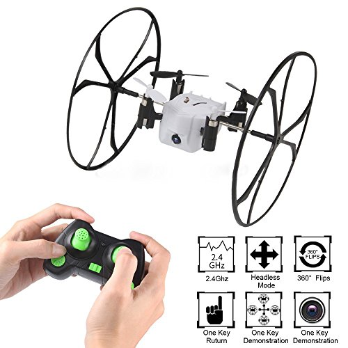 Dazhong Mini RC Quadcopter Drone 0.3MP Camera 4CH 6-Axis RC Quadcopter With 3D Flips and Wall Climbing for Kids by DAZHONG
